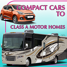 Compact  Cars to Class A Motor Homes